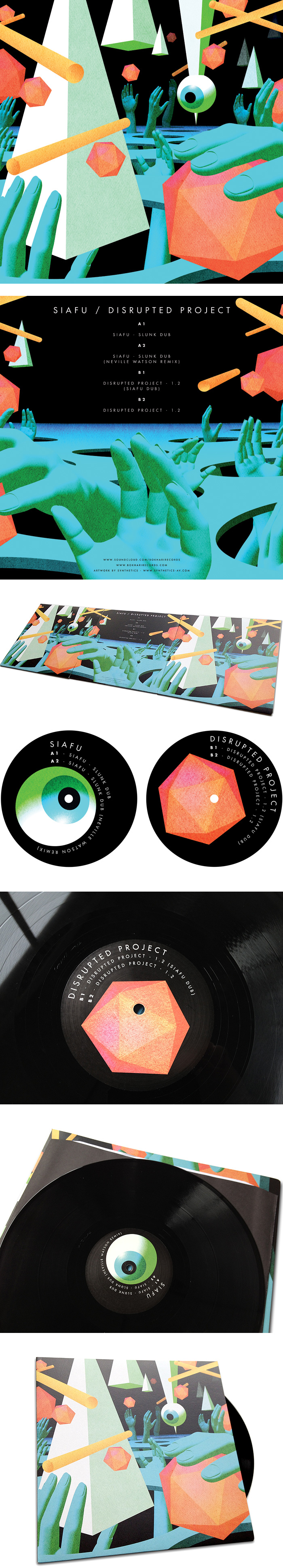 Synthetics Sleeve Artwork Bokhari Records